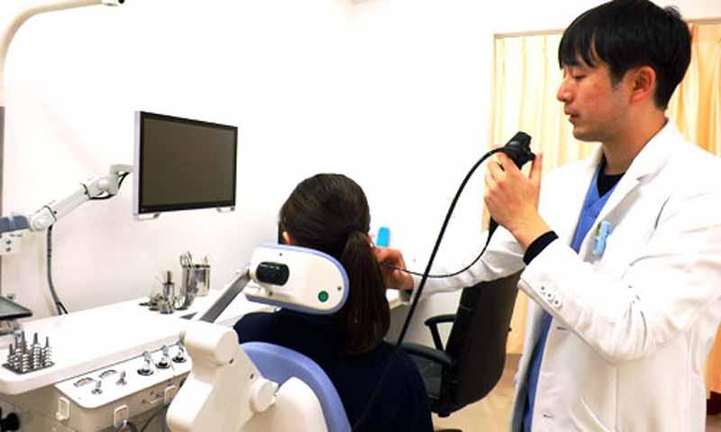 内視鏡(CCD暗視カメラ)検査は、モニターへ映し出されます